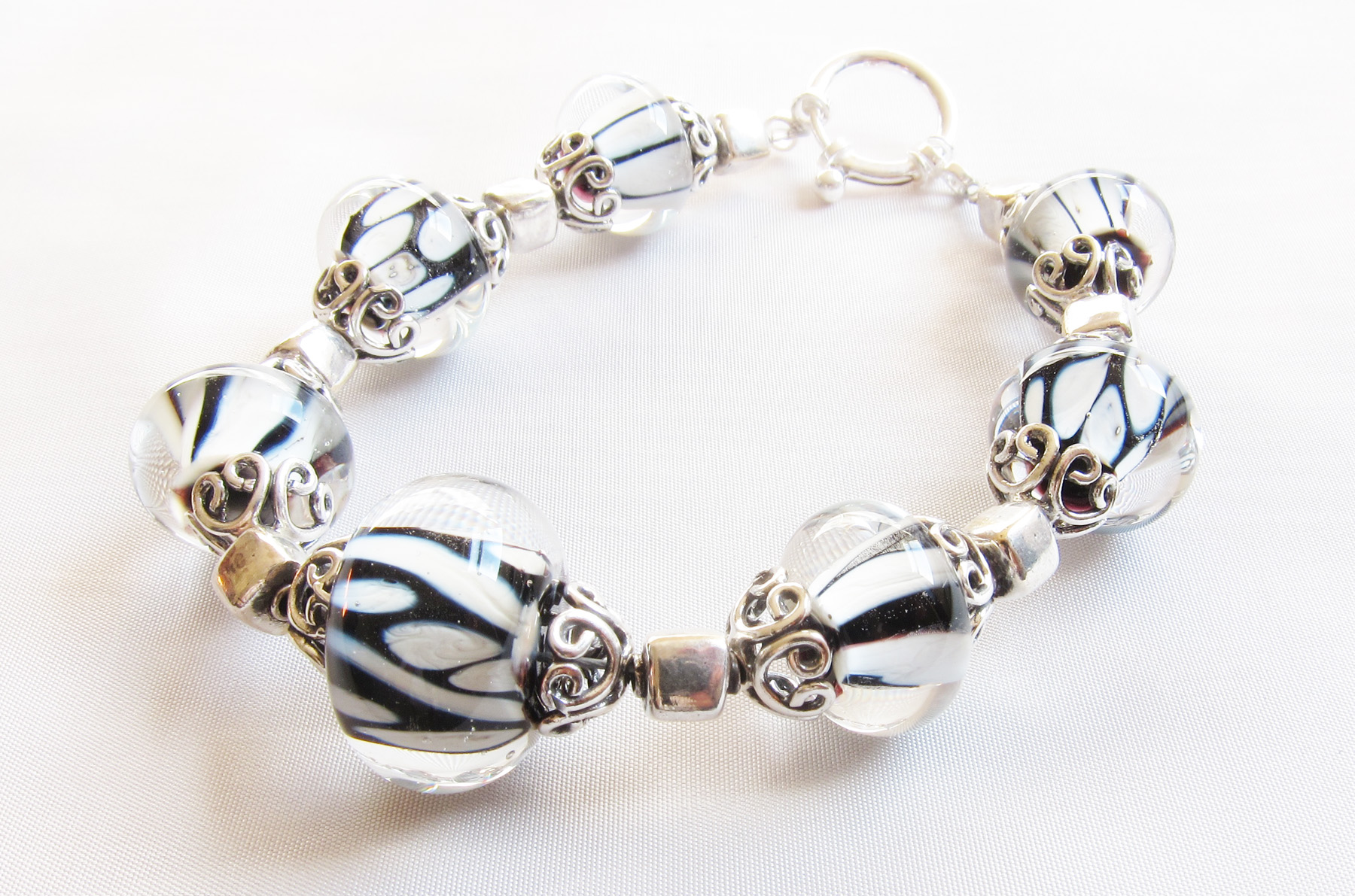 *NEW* Silvered Ivory and Black Bracelet