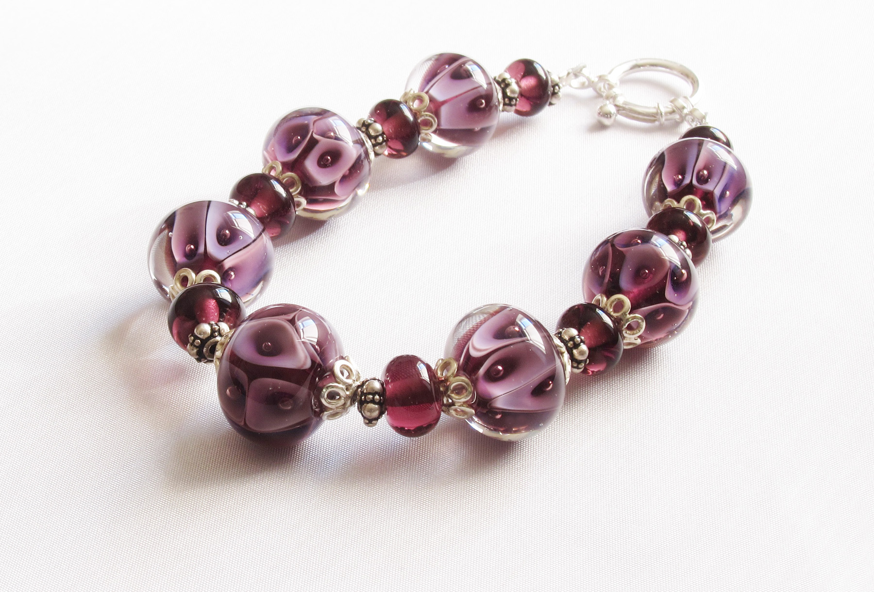 Lavender And Purple Plunge Bracelet