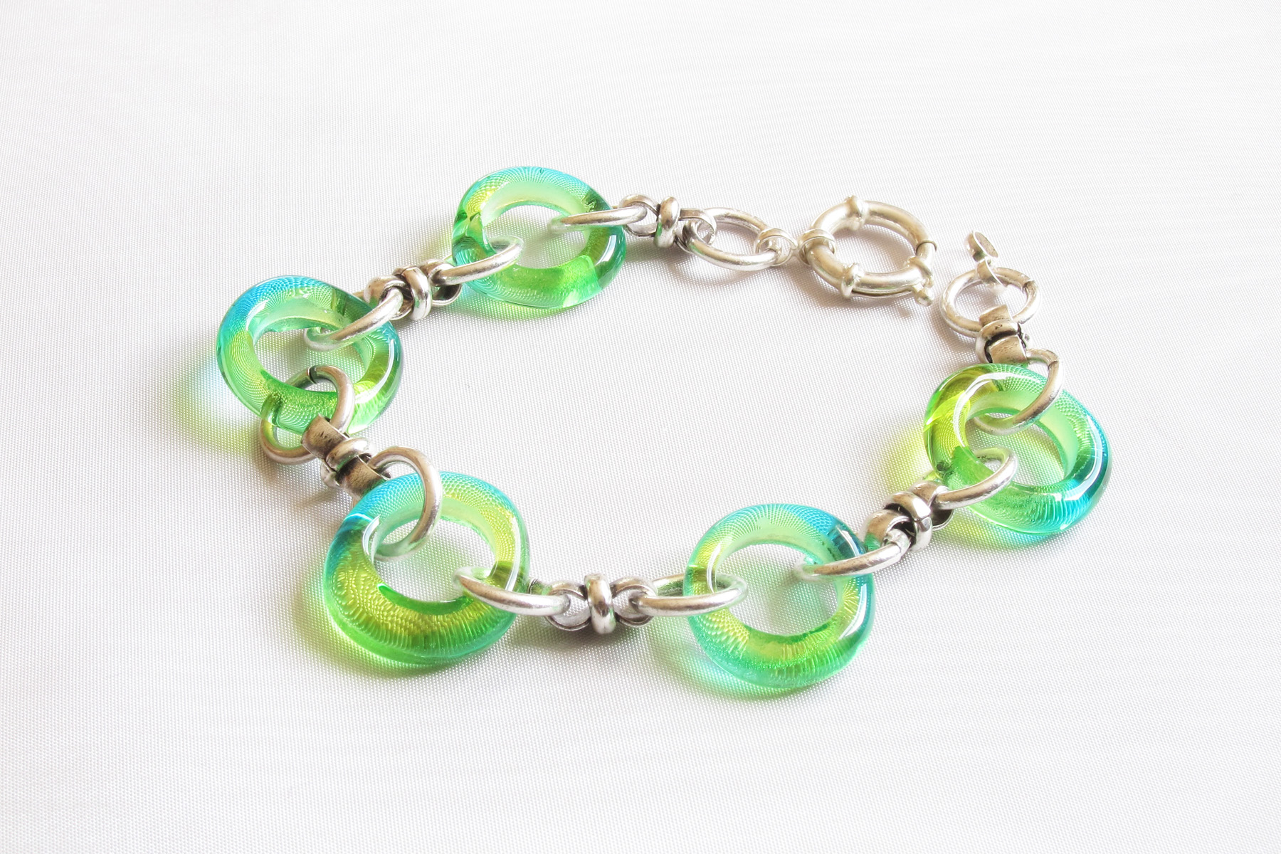 Green and Teal Hoop Bracelet