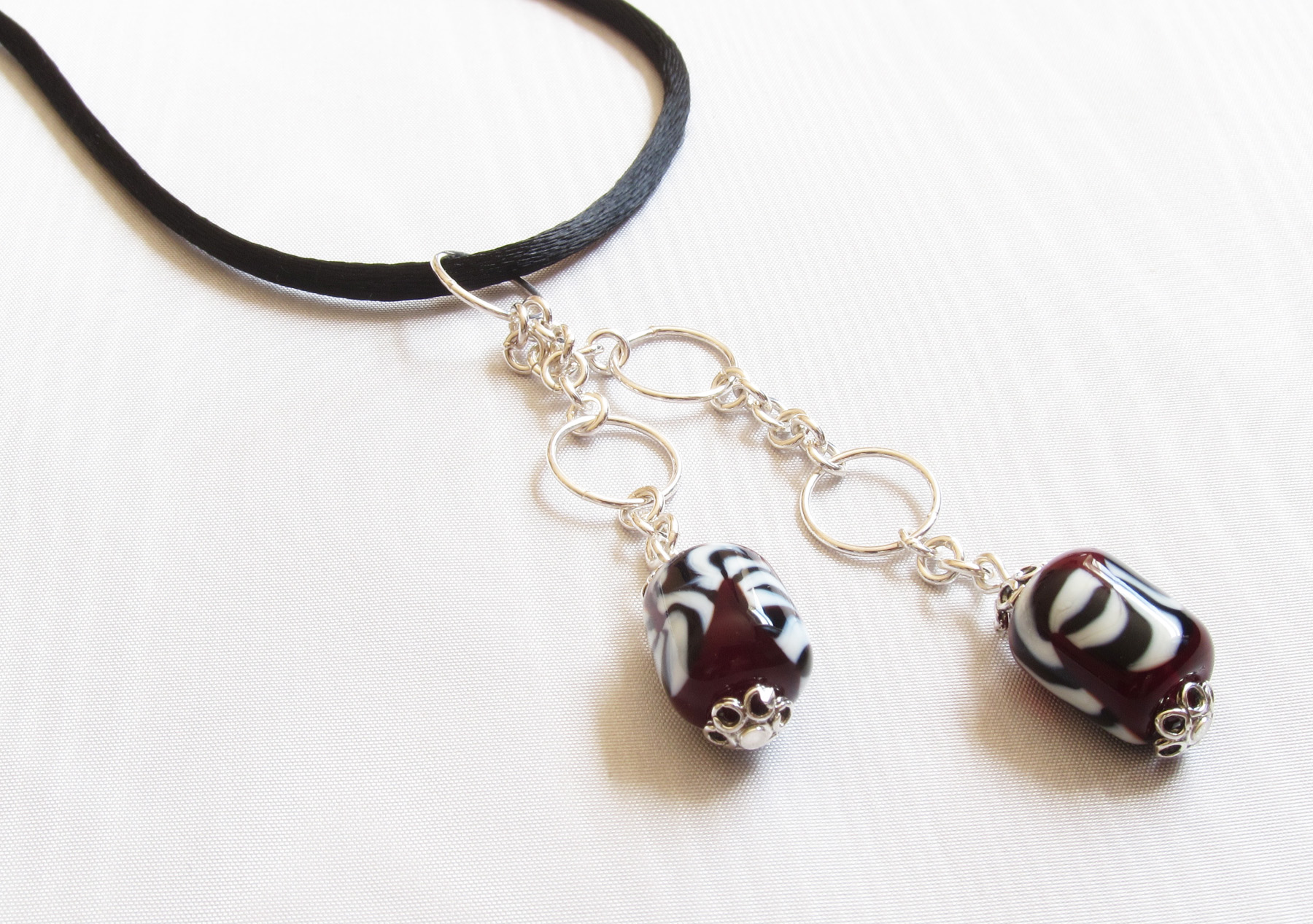 Red Barrels Black And Ivory Twist on Satin Cord