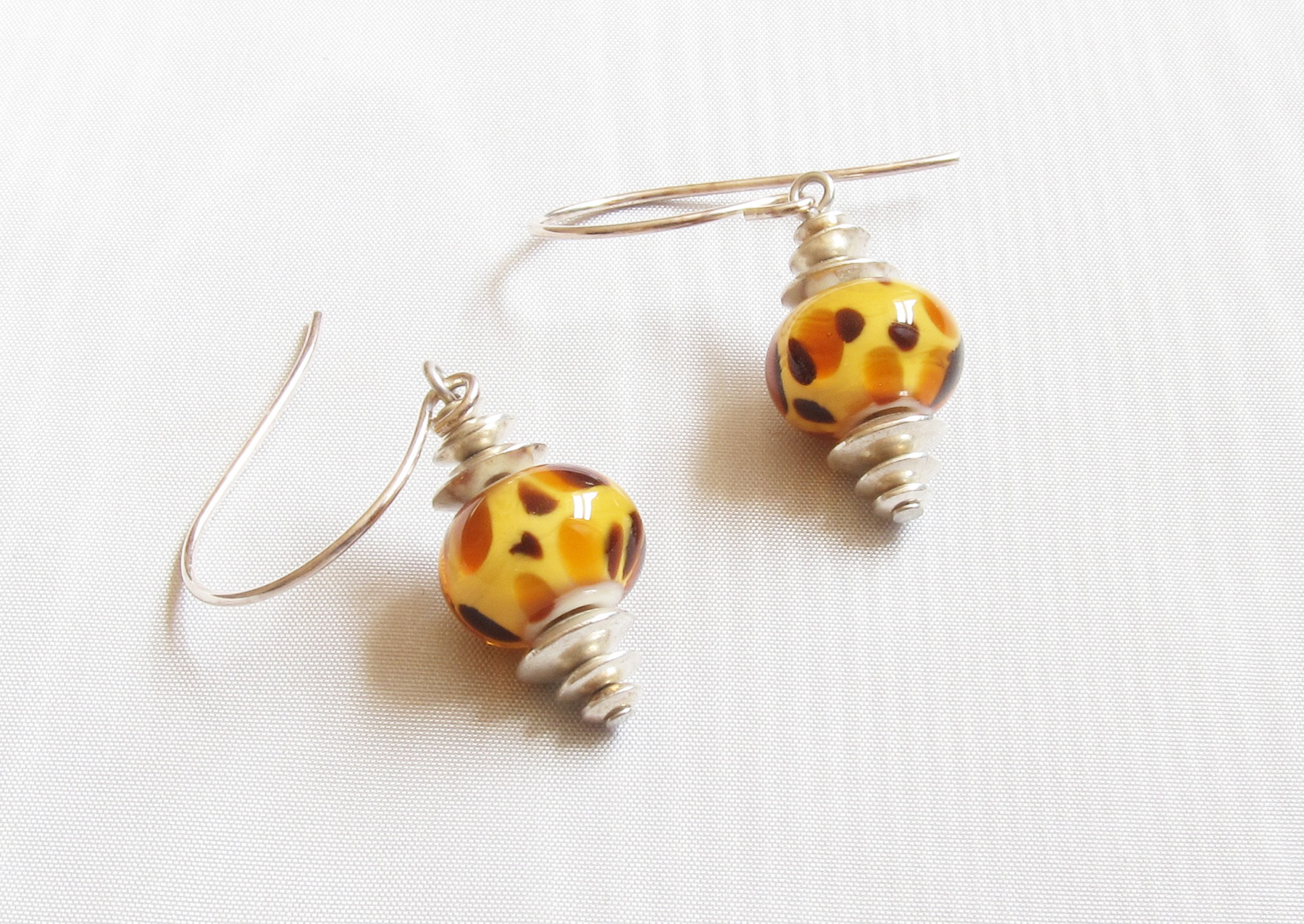 Bad Kitty Cheetah Drop Earrings
