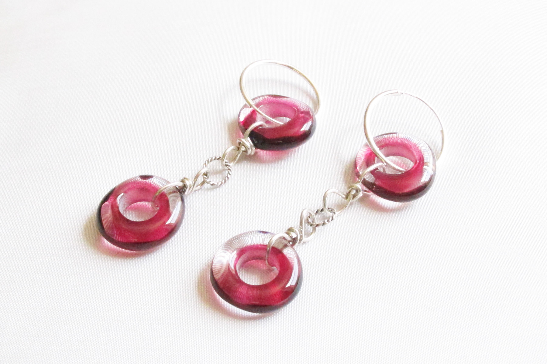 Pink Donut Hoop Earrings