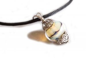 Aura Yellow Filigree Pendant