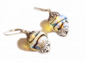 Aura Yellow Filigree Earrings
