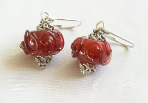 Ruby Swirl Earrings