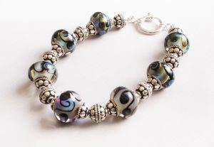 Pale Greens Blues Swirl Bracelet