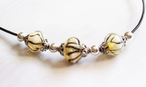 Aura Yellow Swirl Necklace