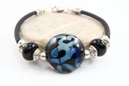Rubber Cord Charm Bracelets