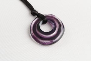 Purple Target Orb Necklace