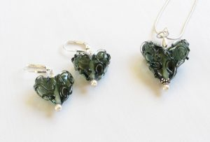 Deep Grey Swirl Heart Set