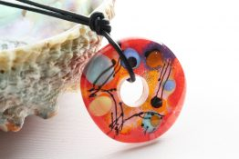 Painted Disc Pendants
