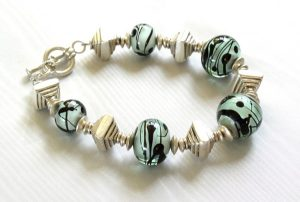 Sea Green Black Bracelet