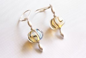 Aura Yellow Swirl Earrings